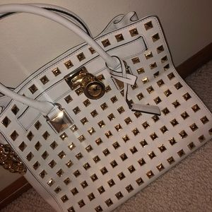 Michael Kors White Studded Limited Edition Handbag